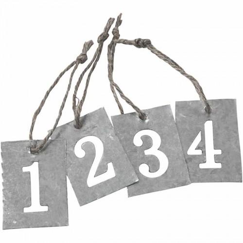 Zahlen Set 1-4 Advent Zink Anhänger Schablone