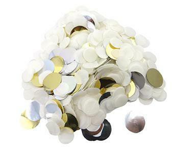 Konfetti DOTS weiss gold silber Mix