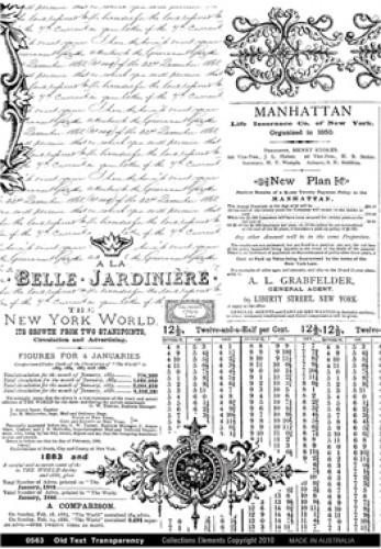 Old Text Transparency Transparentbogen alte Schriften