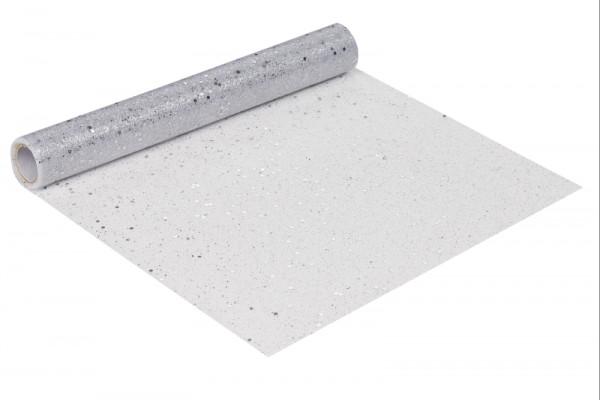 Dekoband Glitzer Tüll weiß silber 29cm