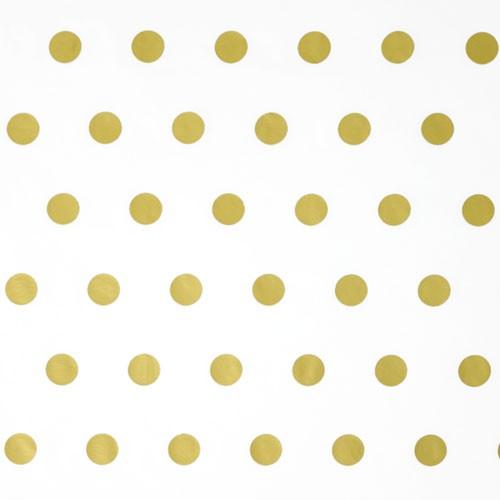 20 Bögen Seidenpapier gold Dots Metallic