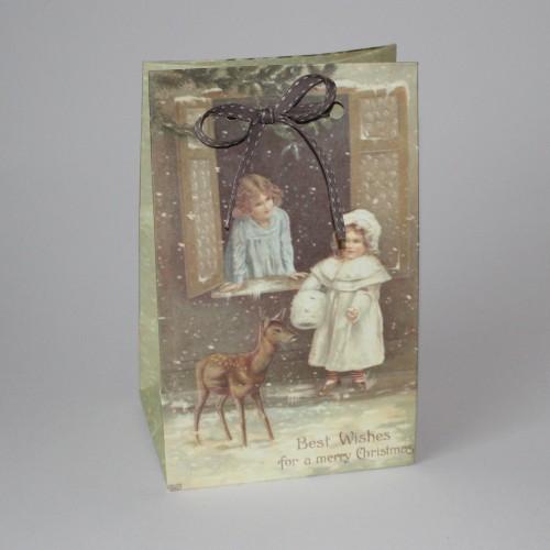 Geschenktasche vintage Christmas