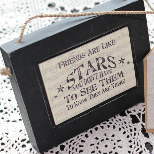 Schild vintage FRIENDS ARE LIKE STARS music
