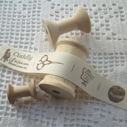 4 Wäsche-Etiketten Label handmade