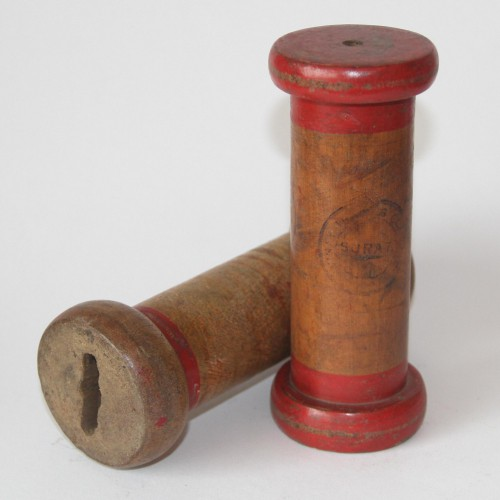 grosse alte vintage Garnspule 15cm