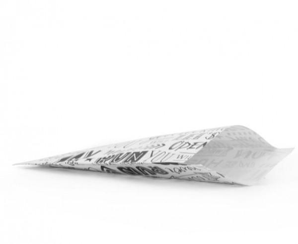 10 Papiertüten Happy schwarz weiss gross