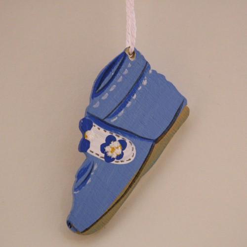 Holzhänger Babyschuh hellblau