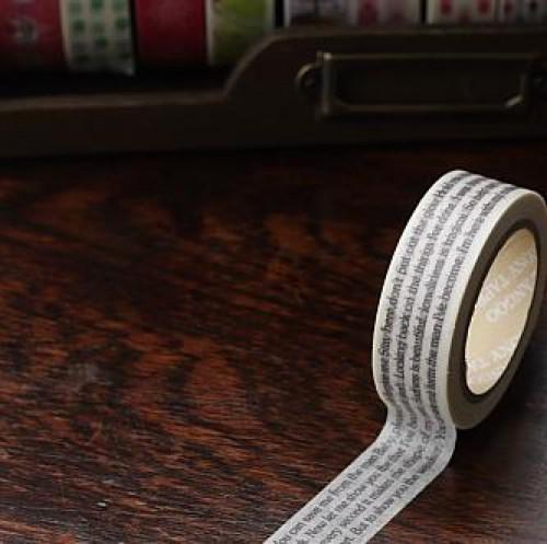 Washi Masking Tape Text Print
