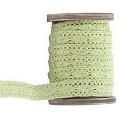 Rolle XXL Spitzenband hellgrün 10m x 15mm