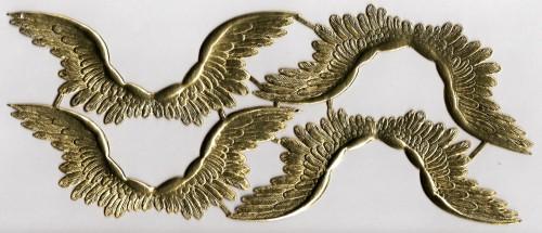 goldene Engelsflügel geprägt