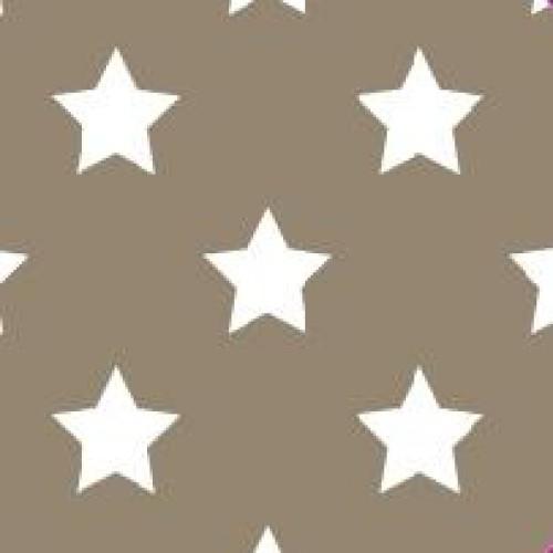 20 Bögen Seidenpapier taupe mit weissen Sternen