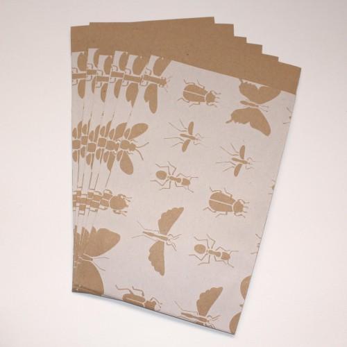 10 Papiertüten Insekten Kraft Gr.M