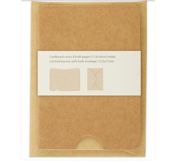 2 x Mini Journal Kraftpapier mit Umschlag