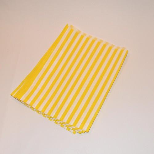 Papiertüten gelb weiß gestreift, klein 10 Stk