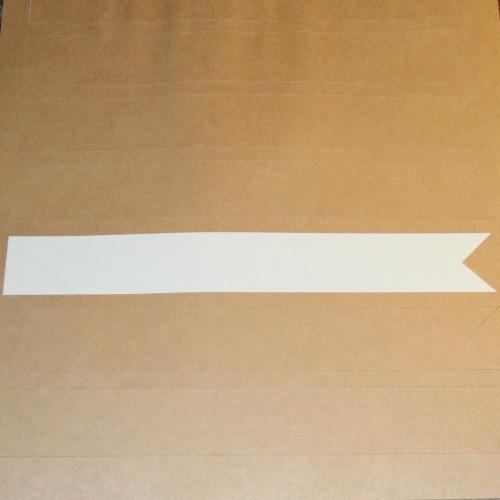 blanko A4 Bogen Kraftpapier braun Label 8 Stk Fahne Arrow