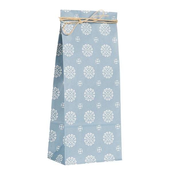 5 Stk. hohe Papierbeutel blau
