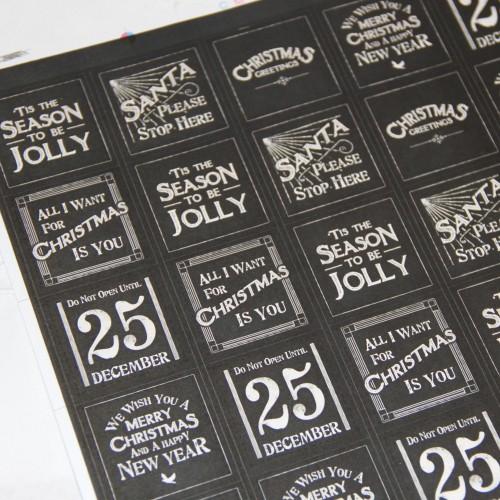Stickerbogen vintage Weihnachten 35 Stk