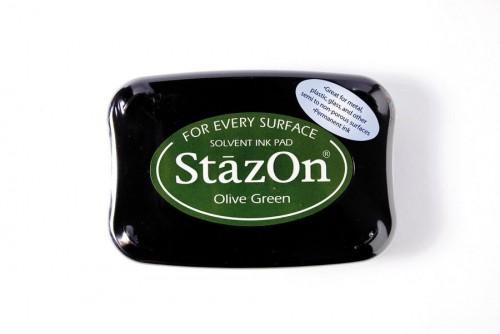 Permanent Stempelkissen StazOn oliv-grün