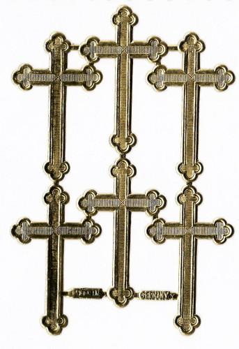 goldene Ornamente Kreuze 6 Stk