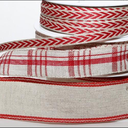 Band Natur Wäscheleinen 40mm mit Draht