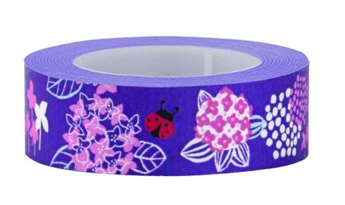 Masking Tape Blumen lila