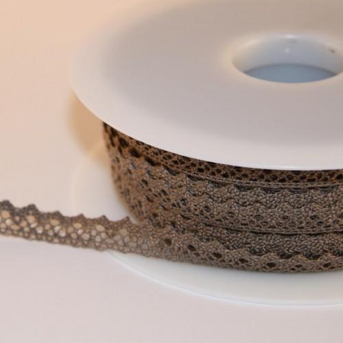 Spitzenband braun 10mm