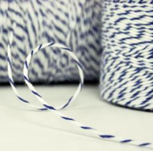 Divine Twine Garn blau / weiß 4-fädig / proMeter
