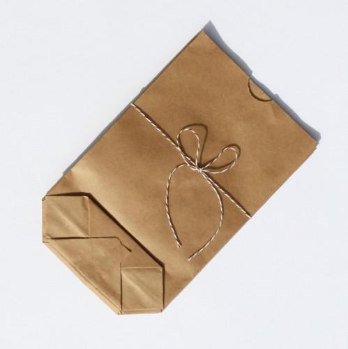 Papierbeutel Kraftpapier rustikal, klein XS