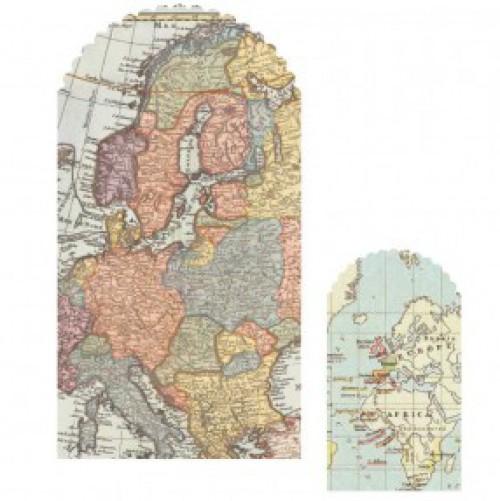 10 Papiertüten vintage Worldmap Landkarten